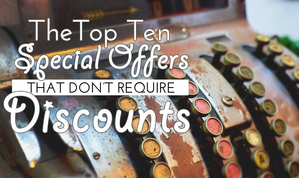 Top 10 Special Offer Ideas That Dont Involve Discounts Salon