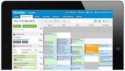 Kitomba k1 Salon Software Main Screen from SalonBusinessSecrets.com